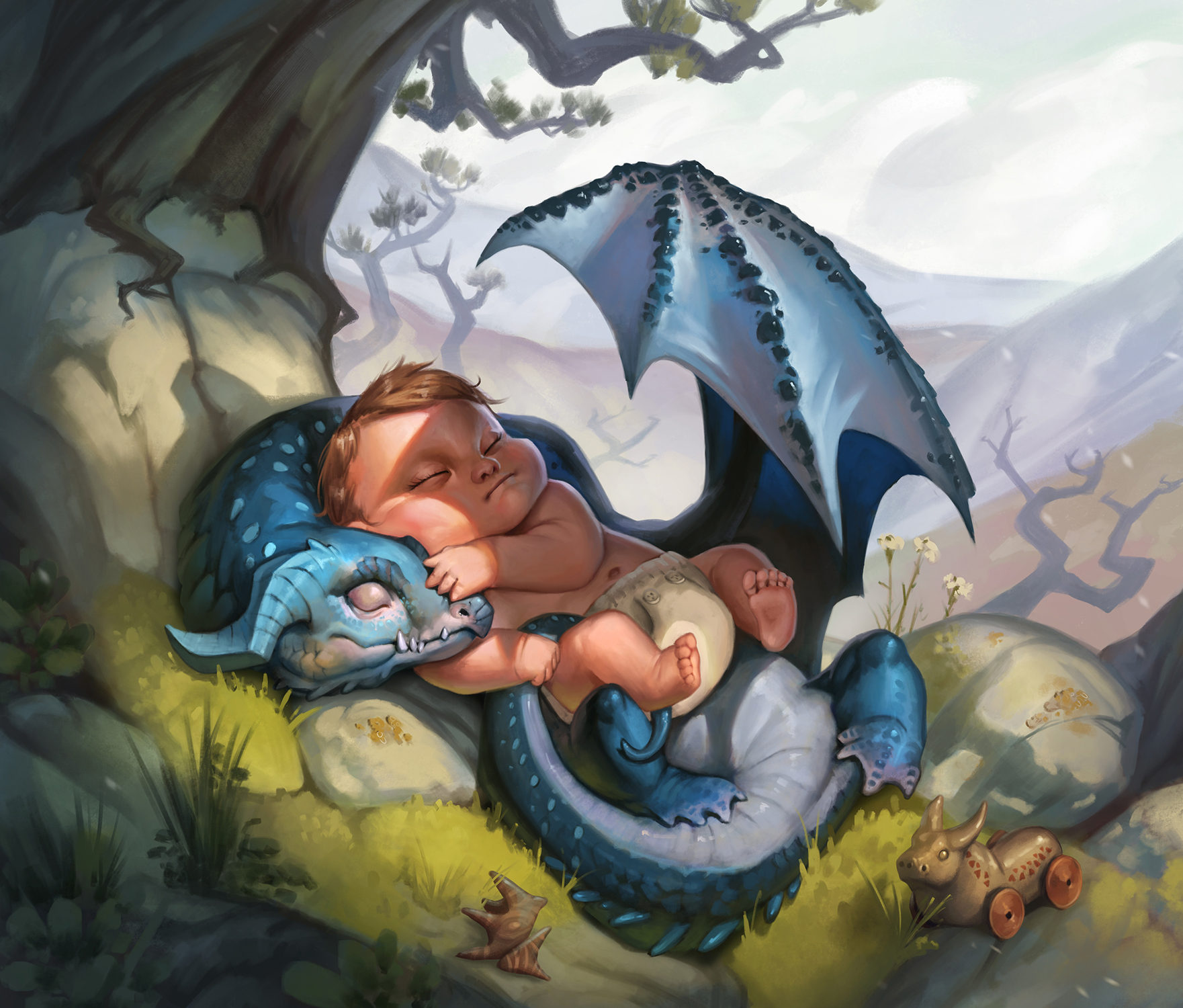 Nanny Dragon Artwork by Milica Celikovic