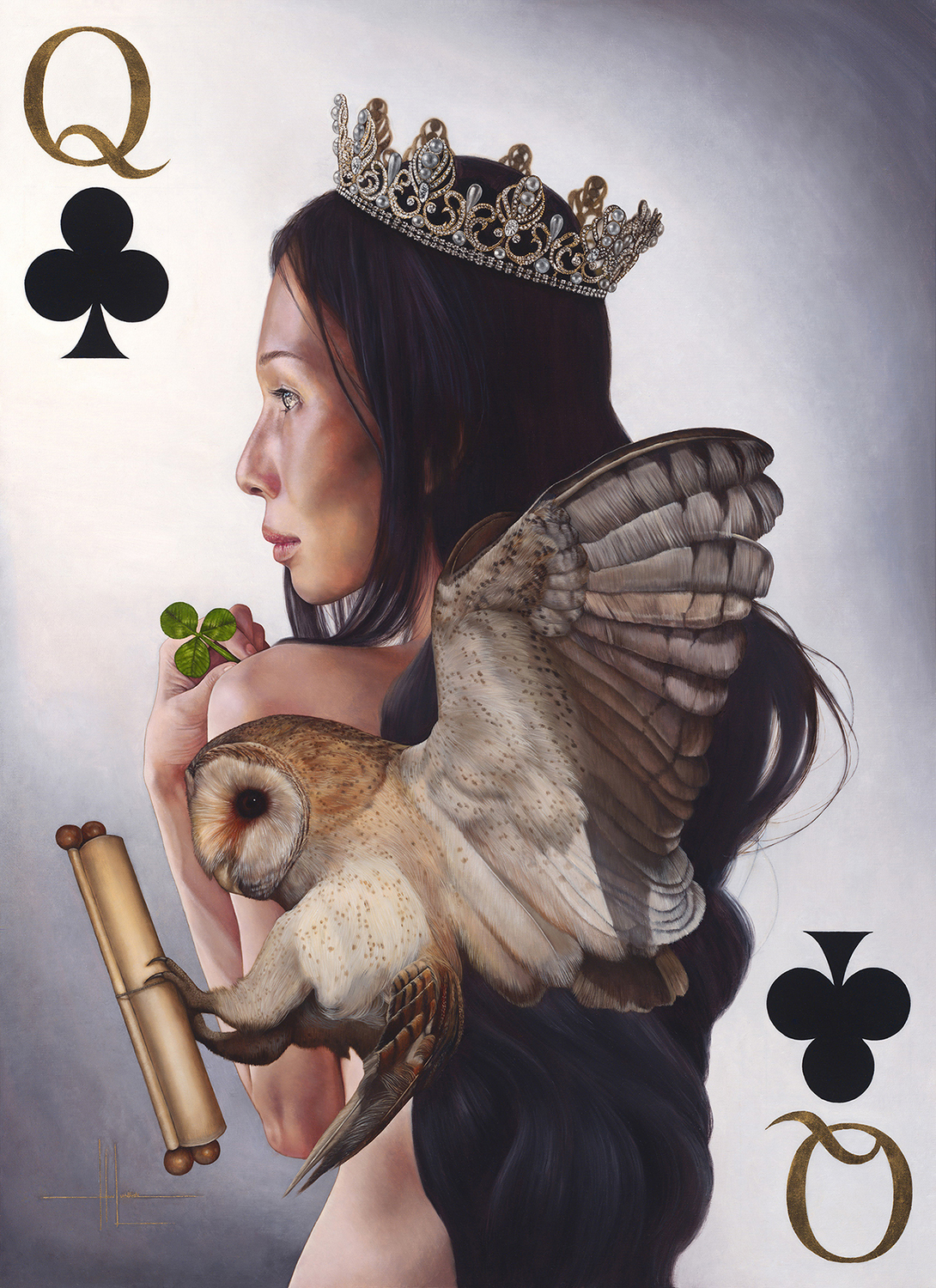 Queen of Clubs Artwork by Hari Lualhati