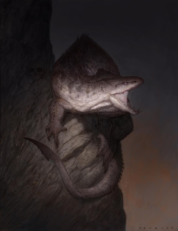 GODS: Monsters- The Lacerta Artwork by John Tedrick