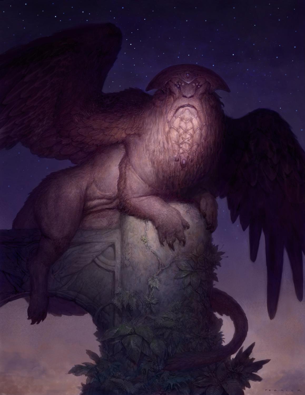 Osahra, Guardian of the Oasis of Dreams Artwork by John Tedrick