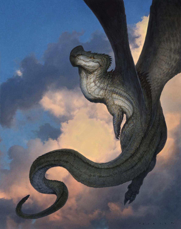 Dino Dragon Artwork by John Tedrick