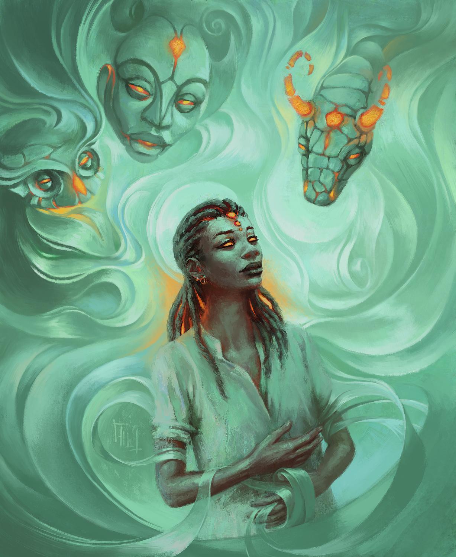 Awaken the Spirits Artwork by Harkalé Linaï