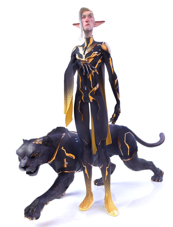 Evil Byte and Jaguar Artwork by Rafater