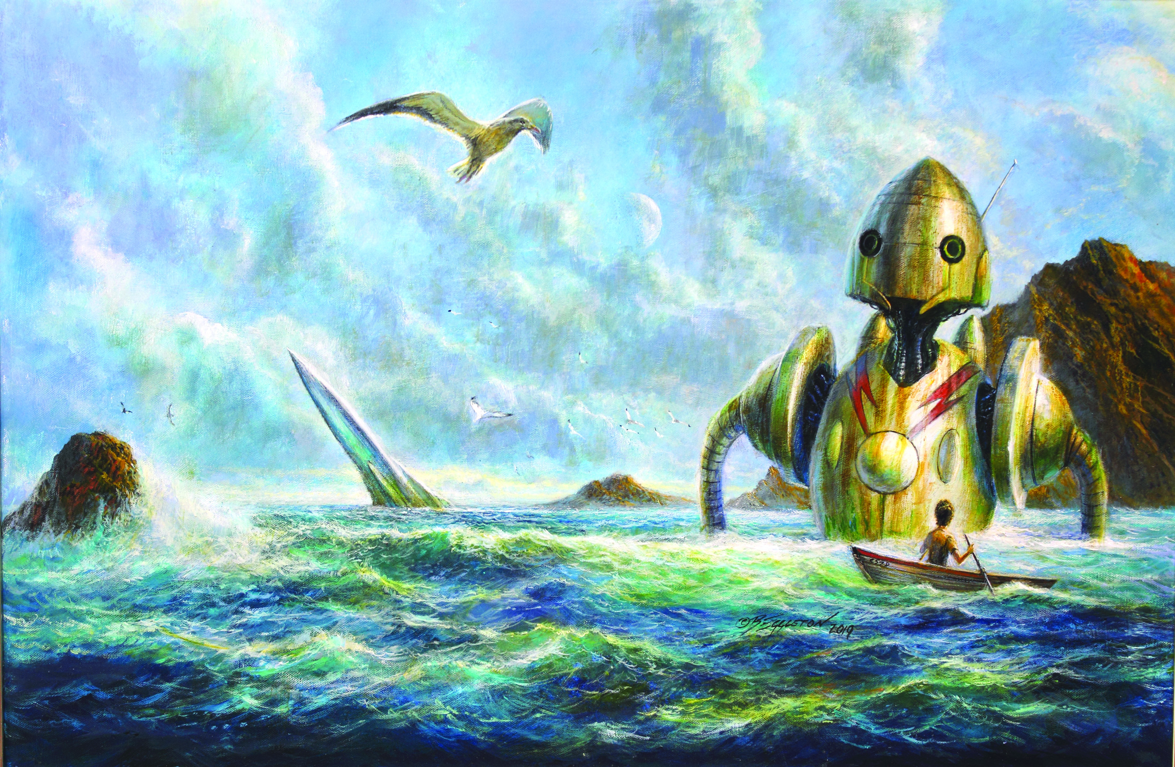 ANOTHER ONE OF OUR ROBOTS IS MISSING Artwork by Bob Eggleton