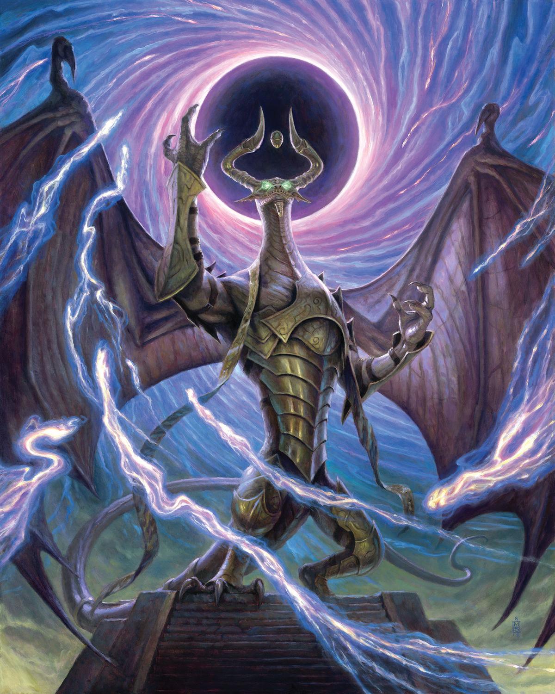 Nicol Bolas, Dragon-God Artwork by Matthew Stewart