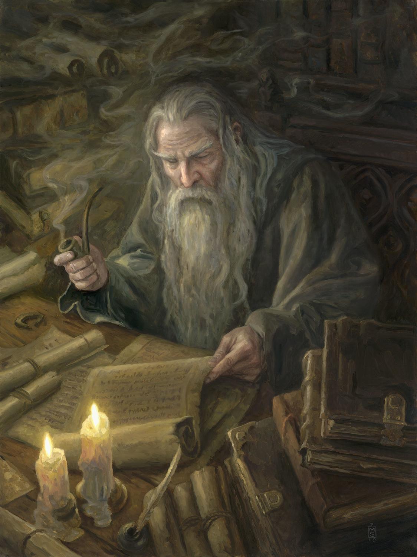 The Scroll of Isildur Artwork by Matthew Stewart