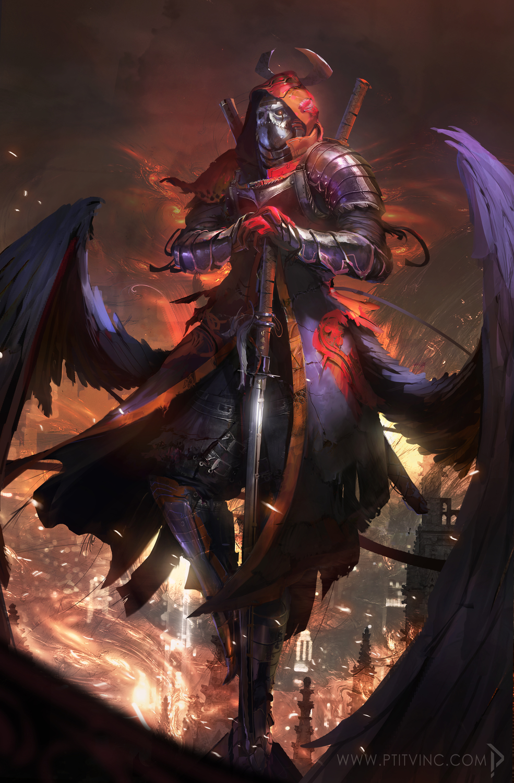 angel of the death Artwork by vincent lefevre
