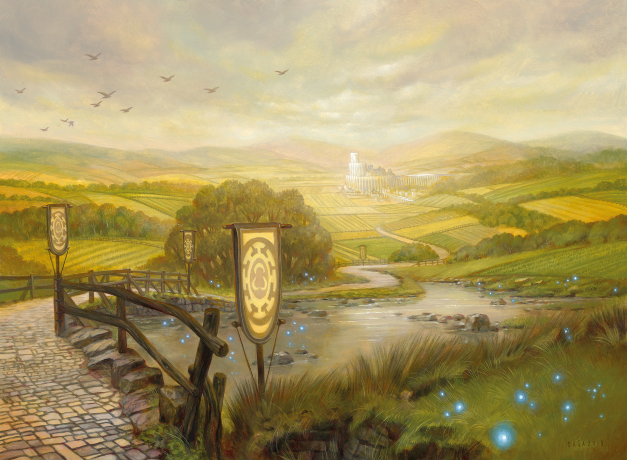 Plains - Throne of Eldraine Artwork by Volkan Baga