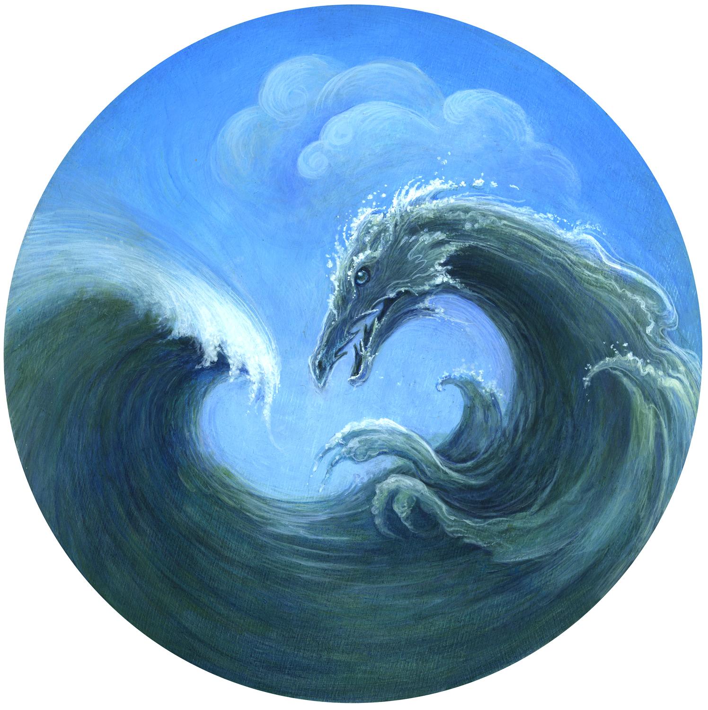 Disaster Dragons Series - Tsunami Artwork by I. S. Kallick