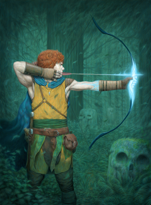 Dark Forest Archer Artwork by John Barry Ballaran