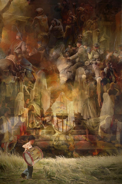 Death(Drummer Boy of Shiloh) Artwork by Elizabeth Leggett