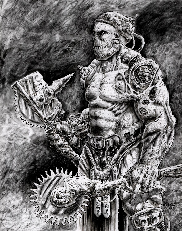 SKURN Death Saws Artwork by Michael Rechlin