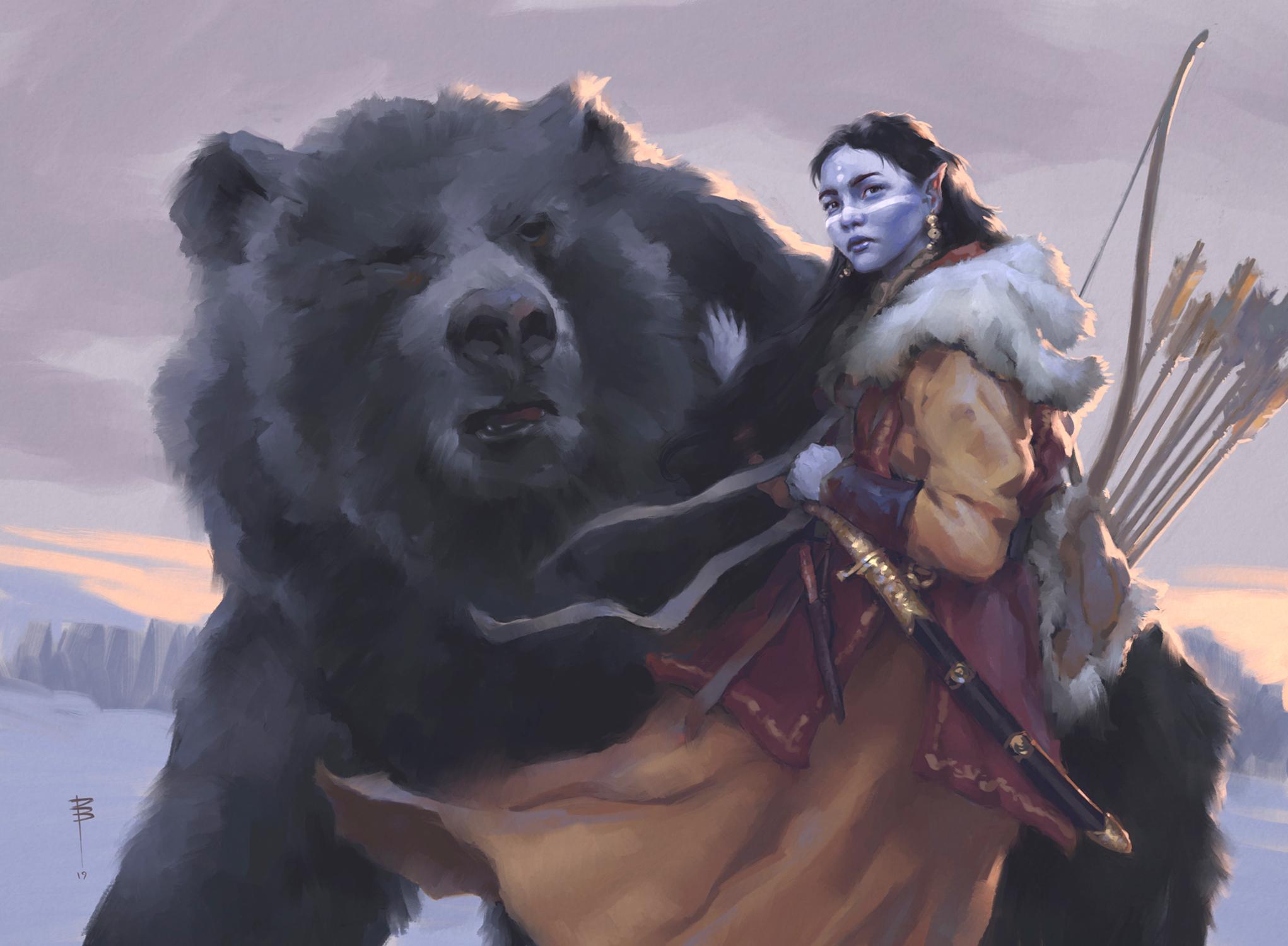 Bear's Companion I Artwork by David Brasgalla