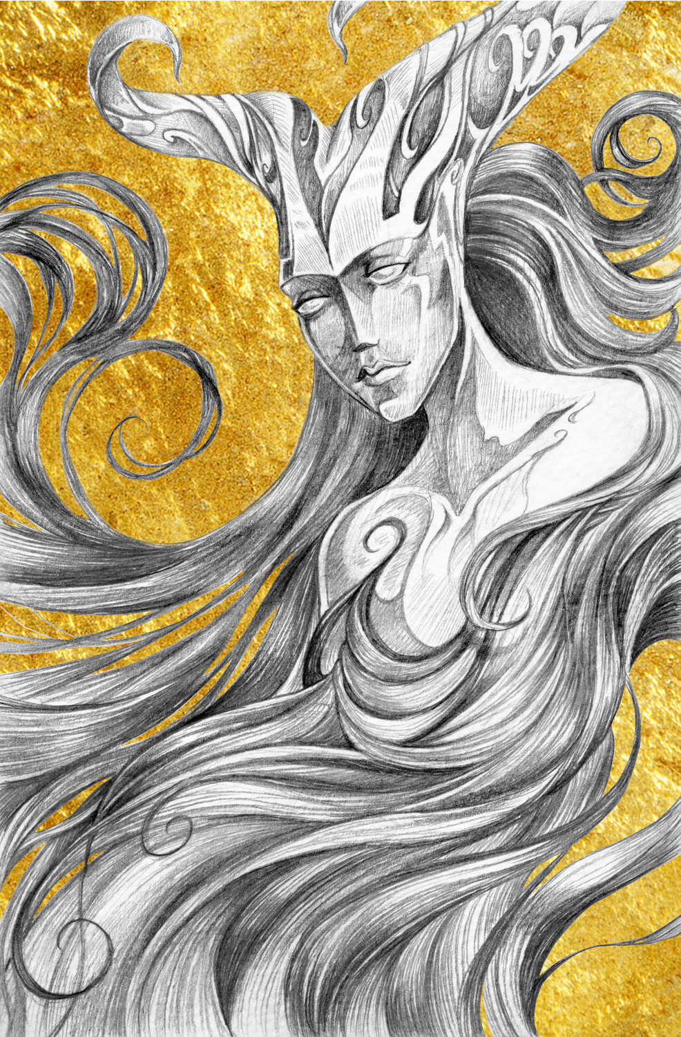 The Horned Woman Artwork by Susan Shorter