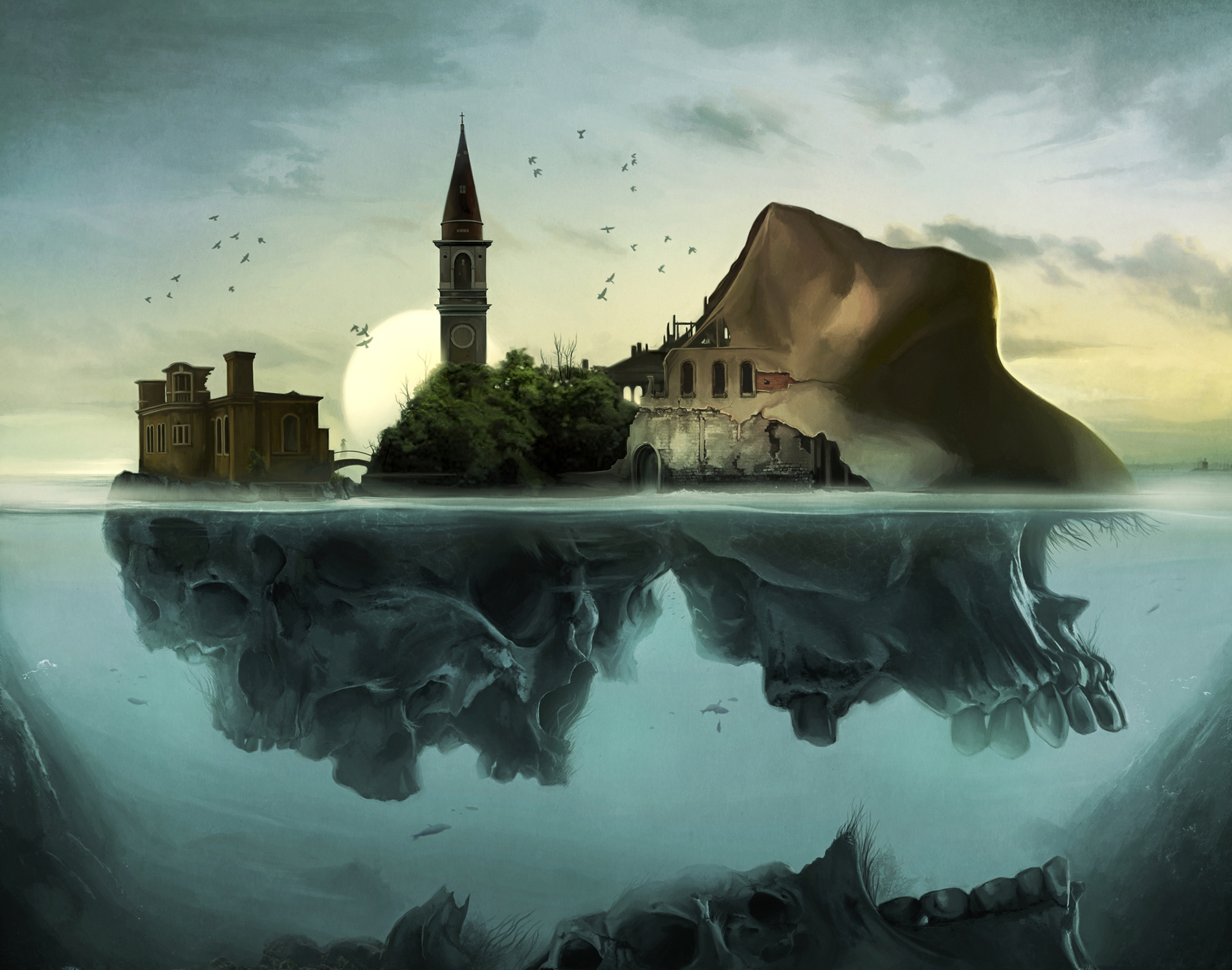 Poveglia Island Artwork by David Seidman