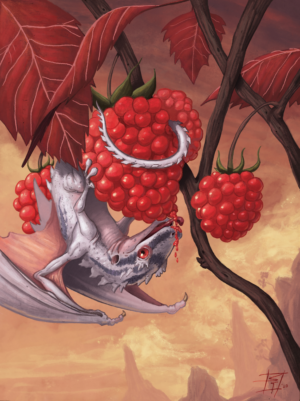 Berry Dragon Artwork by Sebastian  Gomez