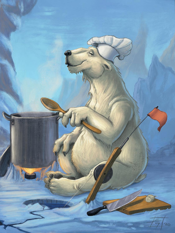 Polar Chef Artwork by Sebastian  Gomez