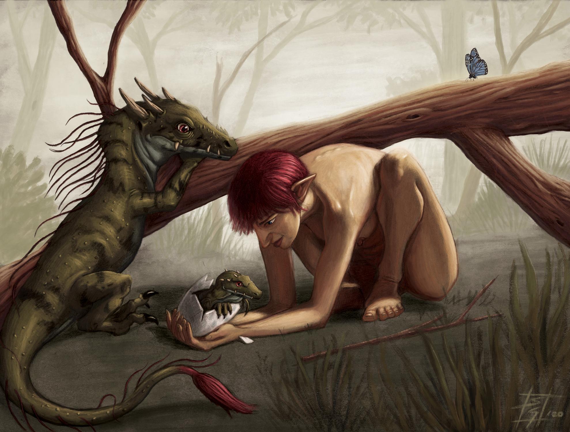 Dragon Born Artwork by Sebastian  Gomez