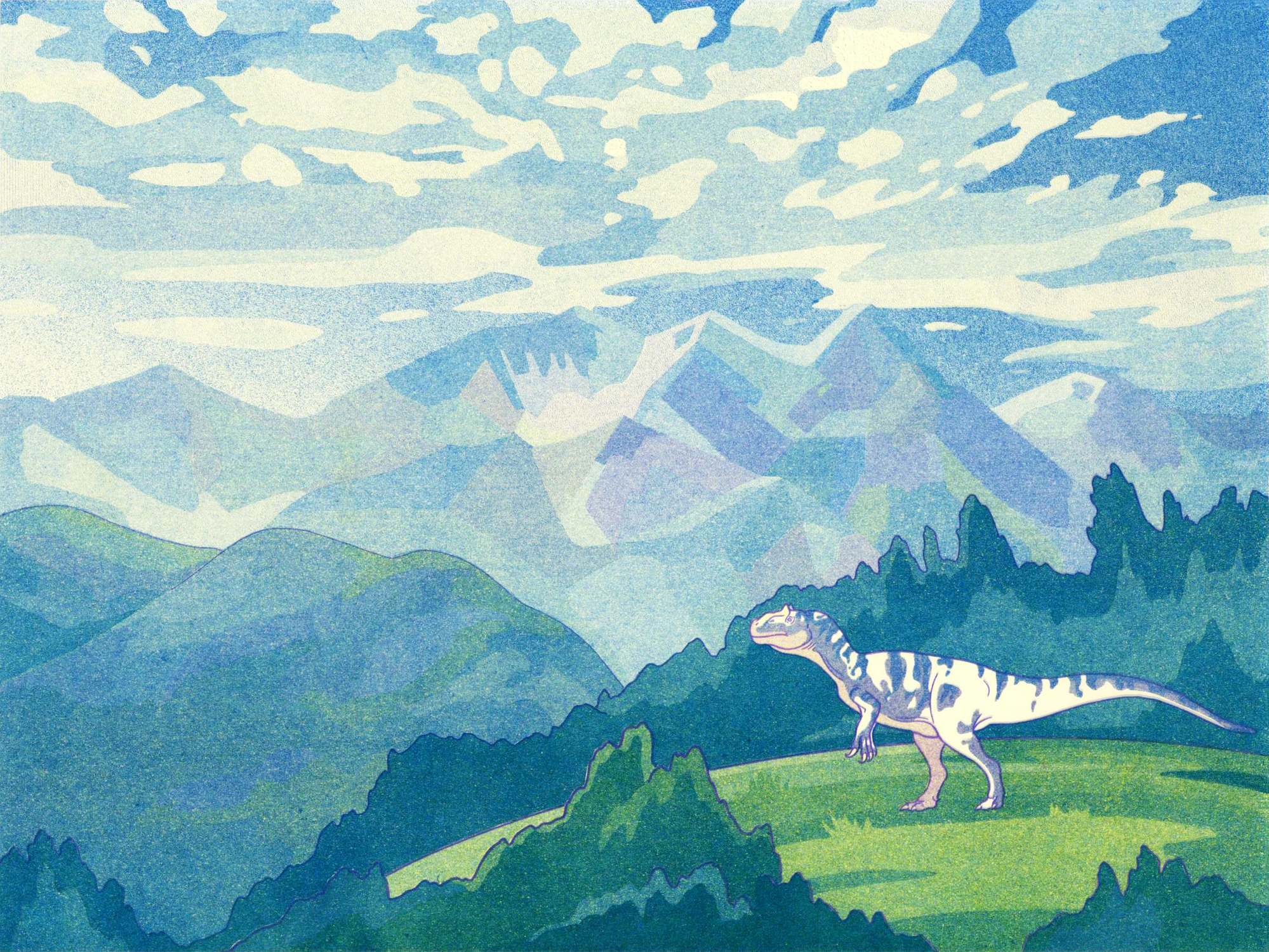 Allosaurus Artwork by Greer Stothers
