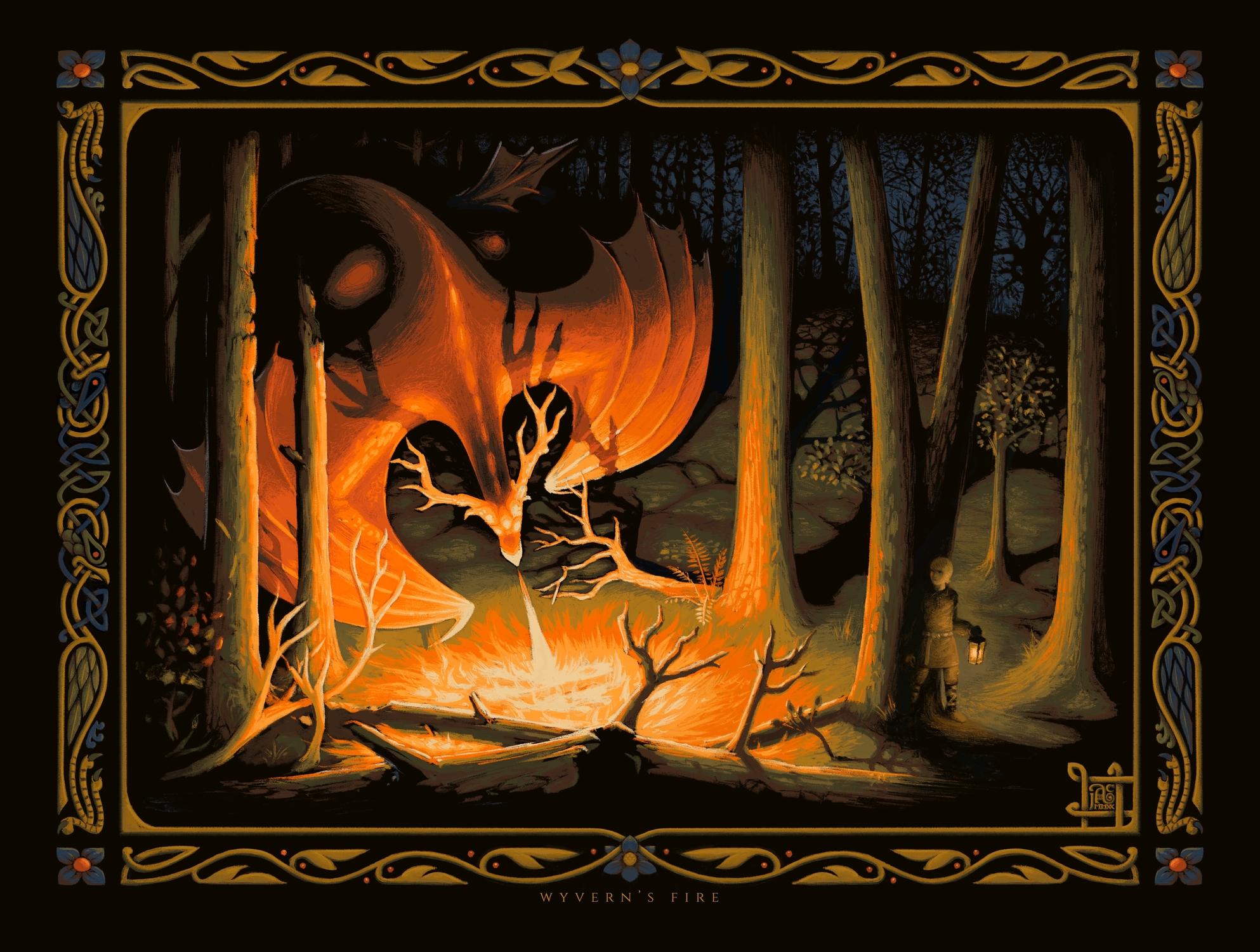 Wyvern's Fire Artwork by James Adam Cartwright