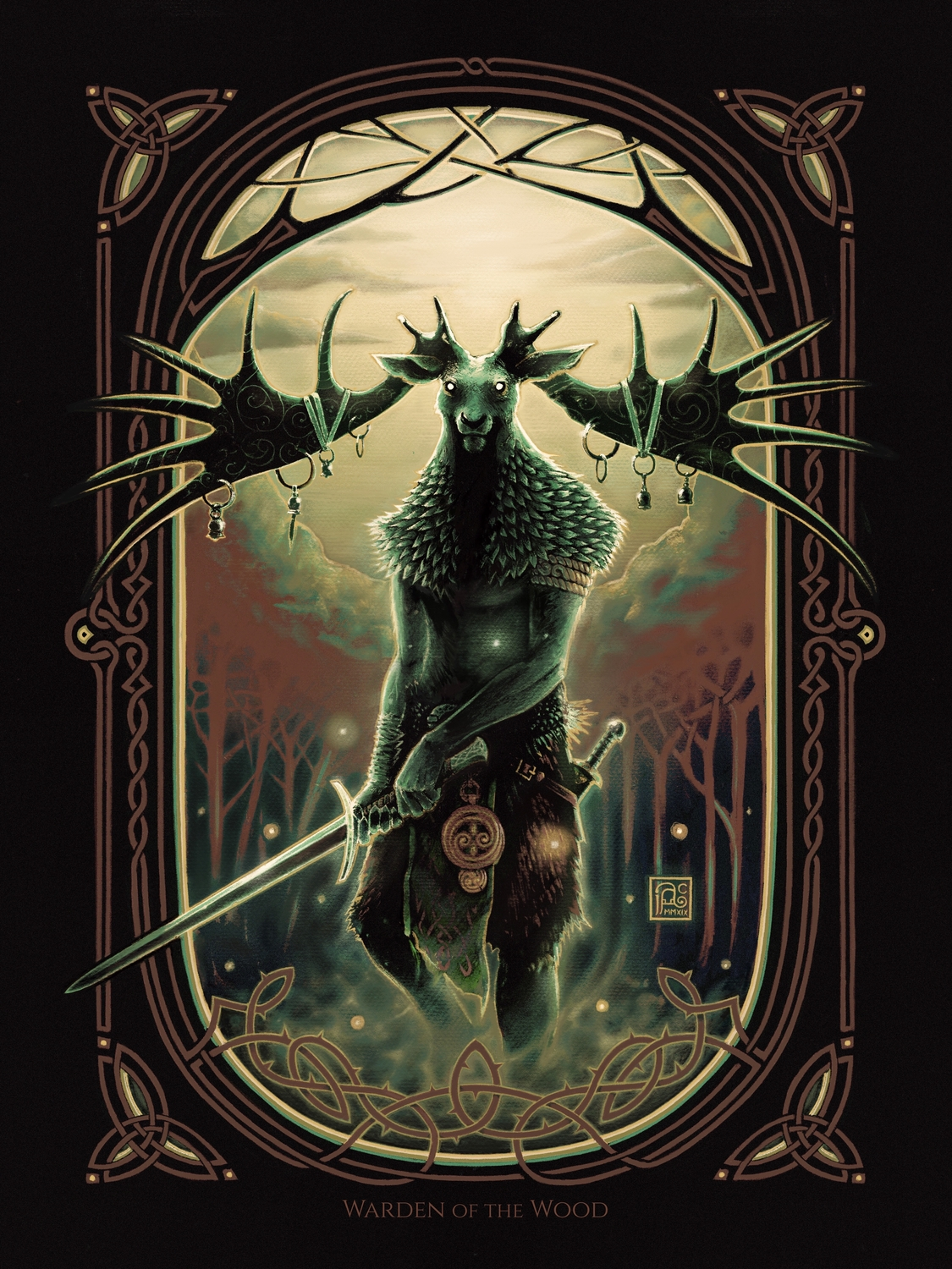 Warden of the Wood Artwork by James Adam Cartwright