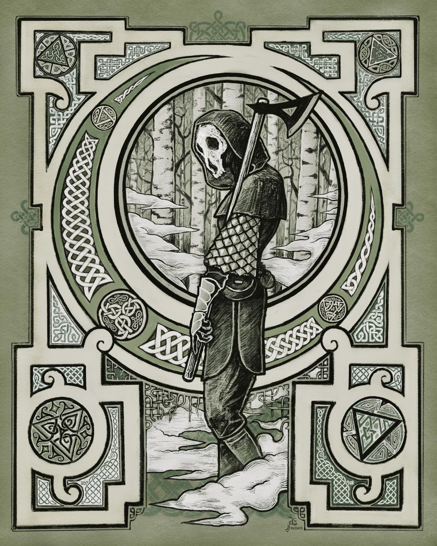 The Dark Woodsman Artwork by James Adam Cartwright