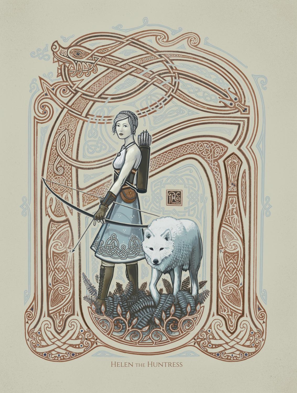 Helen the Huntress Artwork by James Adam Cartwright