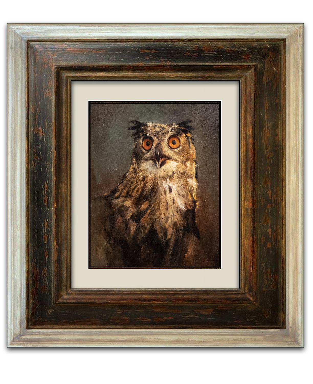 Great Horned Owl Artwork by Jean-Baptiste Monge