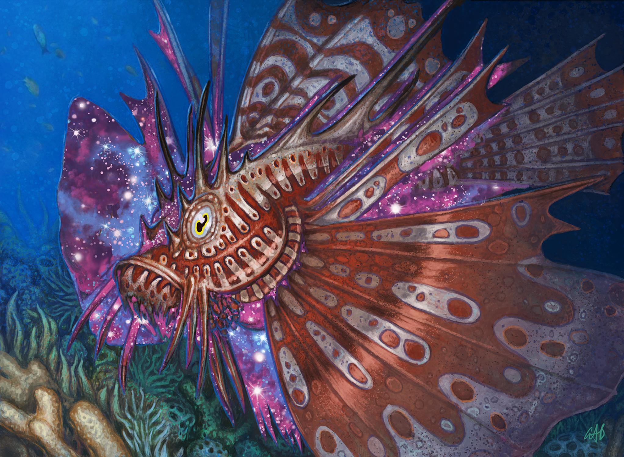 Stinging Lionfish Artwork by Christopher Burdett