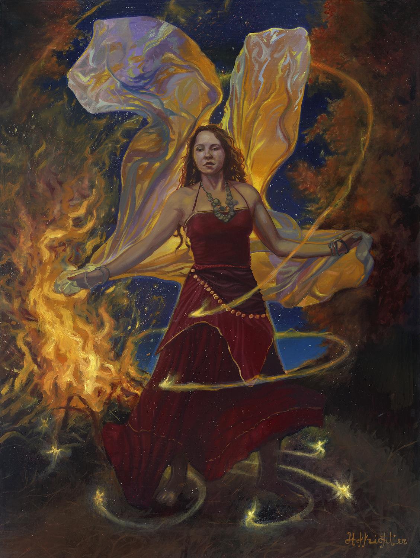 Dance of the Fire Fairies Artwork by David Hoffrichter