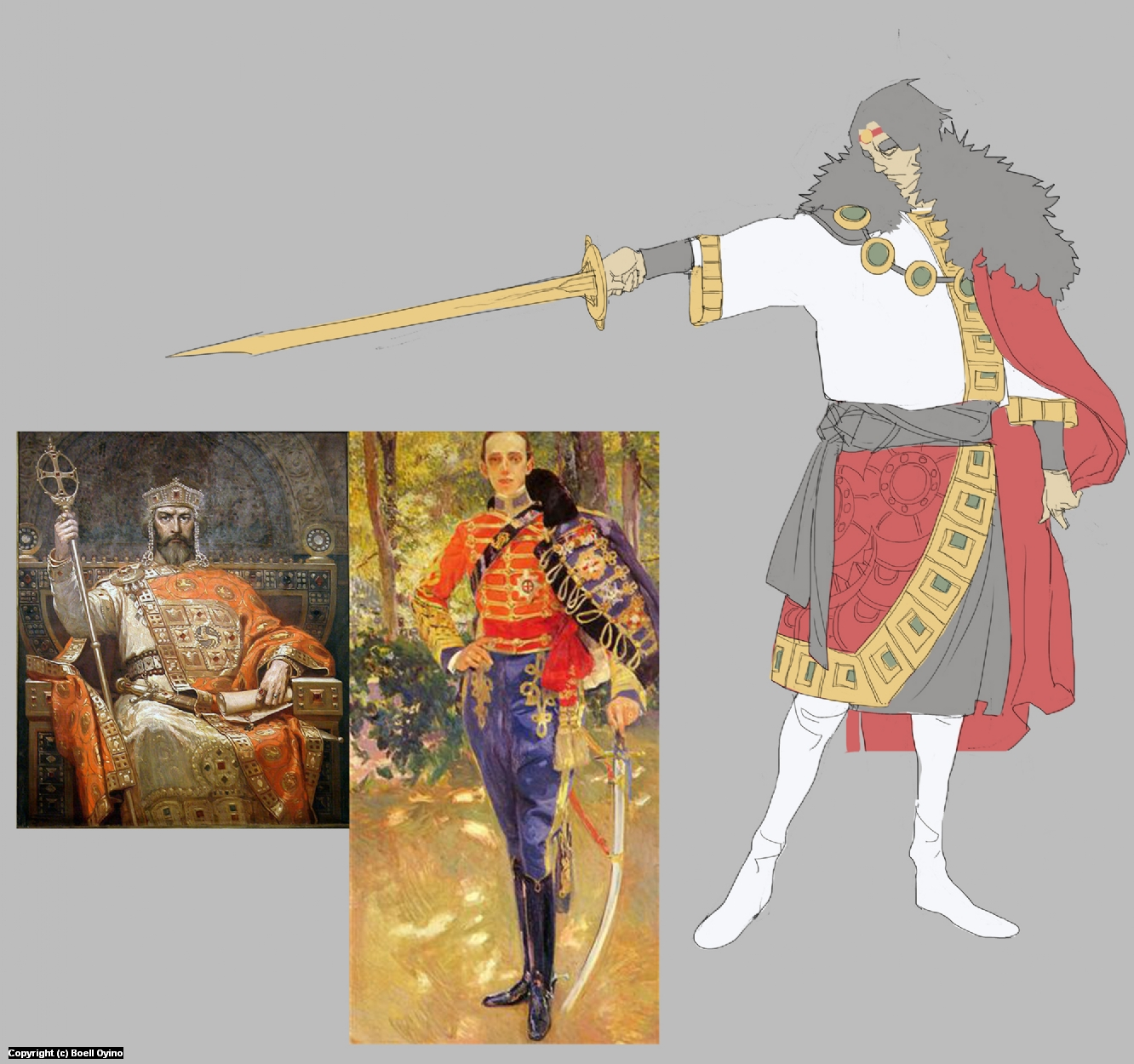 King Tomislav Character design process 02 | Color & Refs Artwork by Boell Oyino
