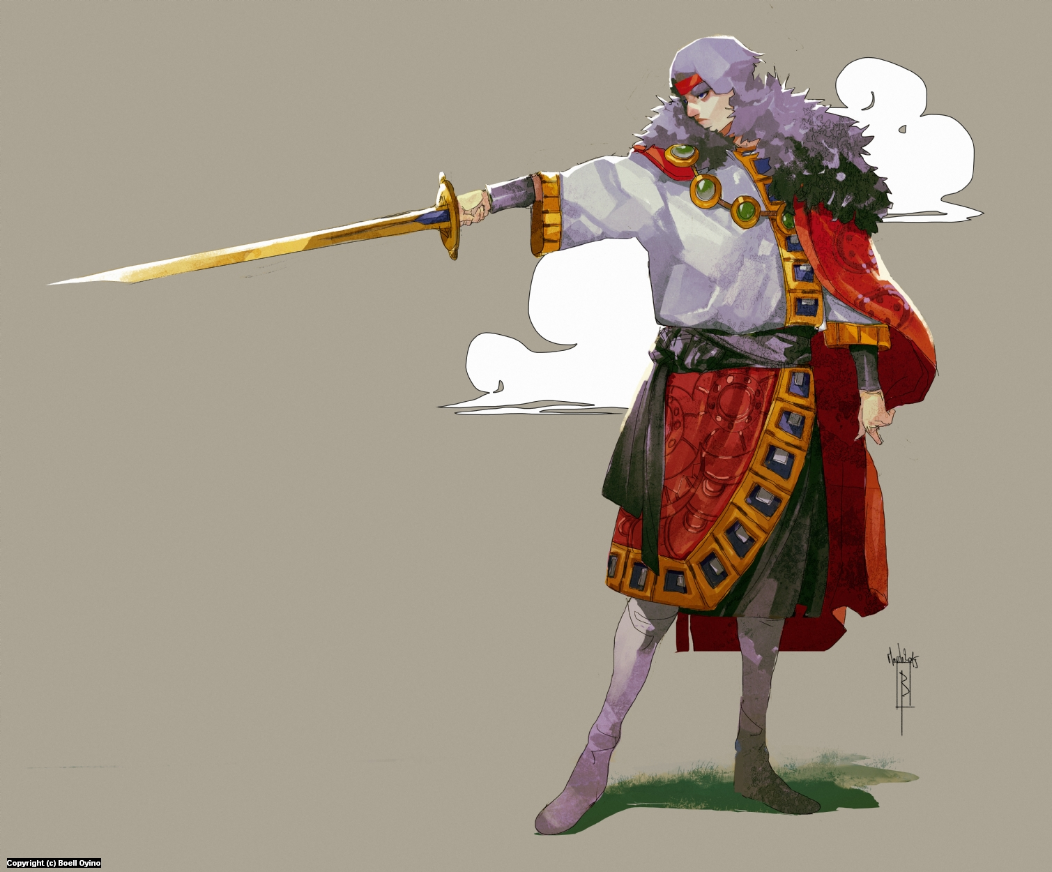 King Tomislav Character design Artwork by Boell Oyino